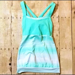 Athleta Mint Green Stride Crunch and Punch Tank